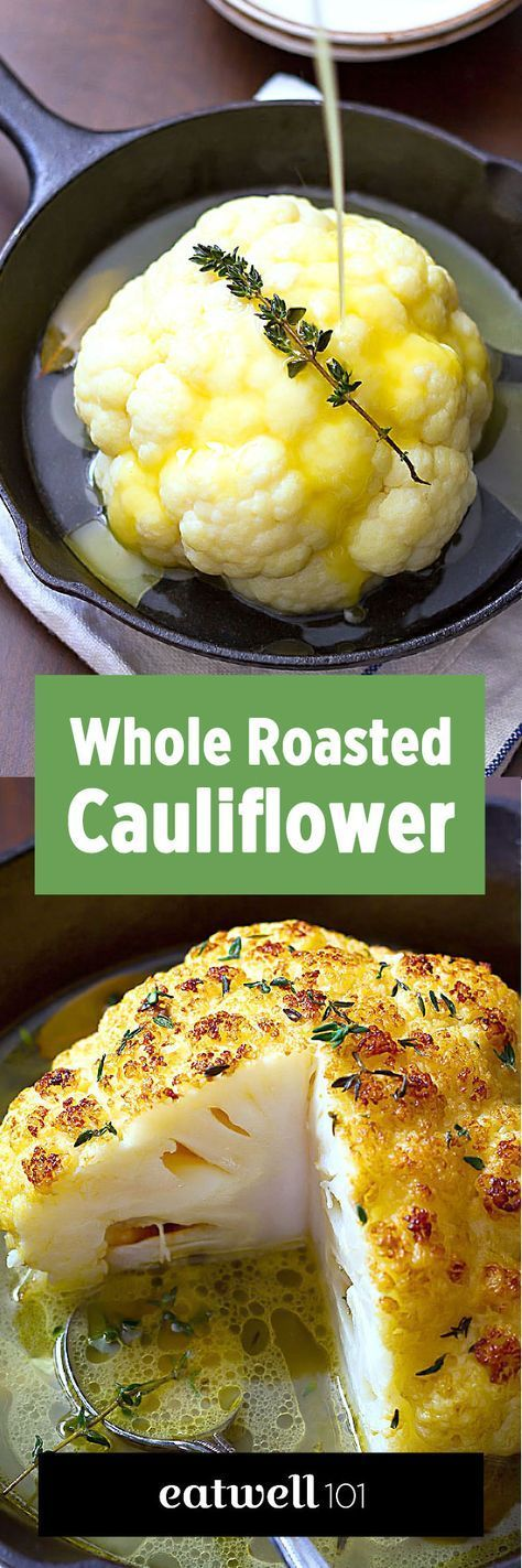 A whole roasted cauliflower recipe you can make in a blink. For a lovely light main course, or a gorgeous side, this is your new favorite way to eat cauliflower! Crisp, tender, and SO delicious!Ing…
