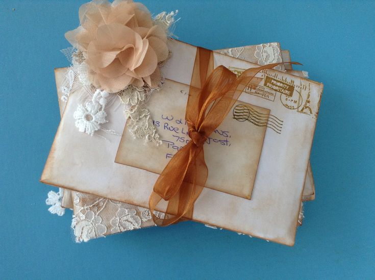 A stack of love letters secret box