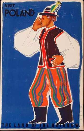DP Vintage Posters - Poland Visit Poland Original Vintage Travel Poster