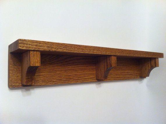 Wood wall shelf mantle plate shelf nick nacks for Fancy wood bookshelves