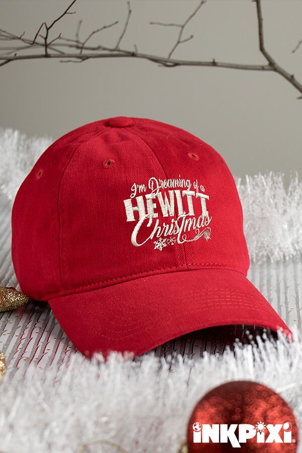 Dreaming Of Christmas Red Embroidered Hat | Custom Hats