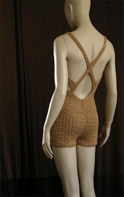 Crochet Jumpsuit Short Playsuit - open back detail