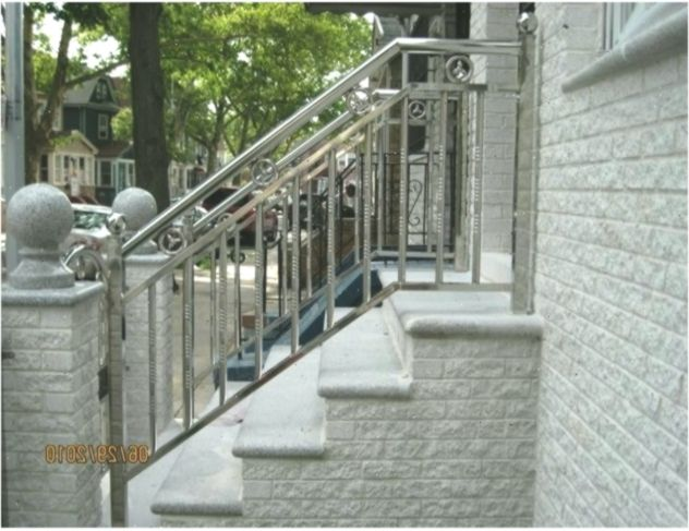 Awesome Stainless Steel Railing Designs Outdoor Stair Railing | Stainless Steel Outdoor Stair Railings | Horizontal | Balcony 4X10 | Metal | Black | Hand