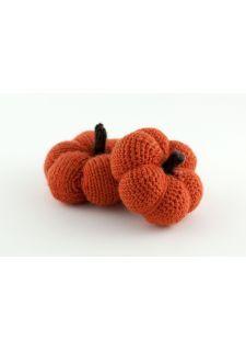 Petite citrouille d'alloween au crochet ou en tricot