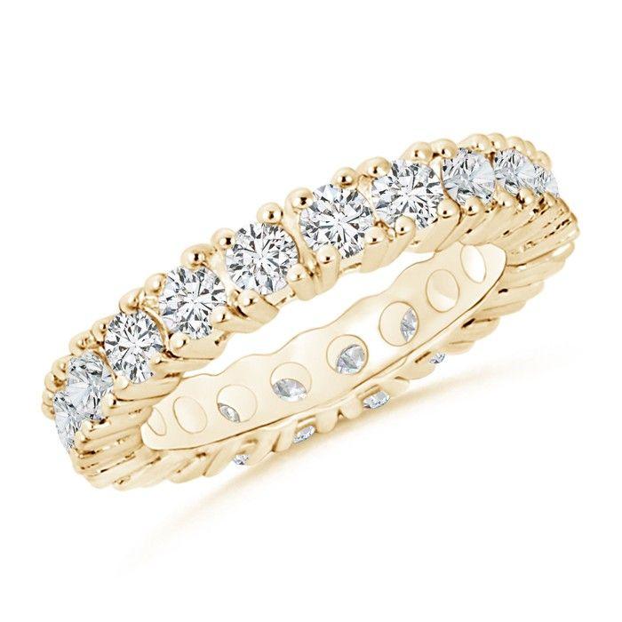 Angara Prong Set Round Diamond Cursive LOVE Ring KywDA