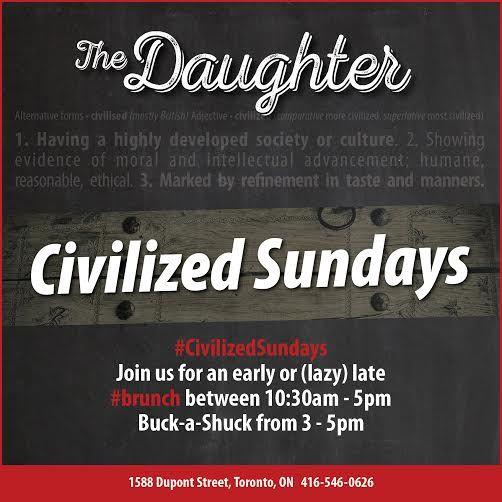 #CivilizedSundays