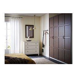 IKEA - HEMNES, Spiegel, schwarzbraun, , Mit Sicherheitsfolie - so lässt sich das Verletzungsrisiko minimieren, falls das Glas zerbricht.Kann horizontal oder vertikal aufgehängt werden.Aus Massivholz, einem strapazierfähigen, lebendigen Naturmaterial.