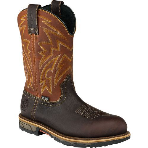 Irish Setter Men's 11 in Marshall Steel Toe Pull-On Work Boots (Beige/Medium Brown, Size 12) - Wellington Steel Toe Work Boots at Academy Sports