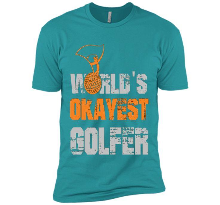 World's Okayest Golfer Funny Golf Player Golfing T-Shirt