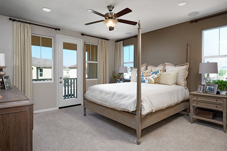 A splendid 4-poster bed, a private balcony & a prime Highland location—dreamy! | Nadia model home | Inland Empire | Richmond American