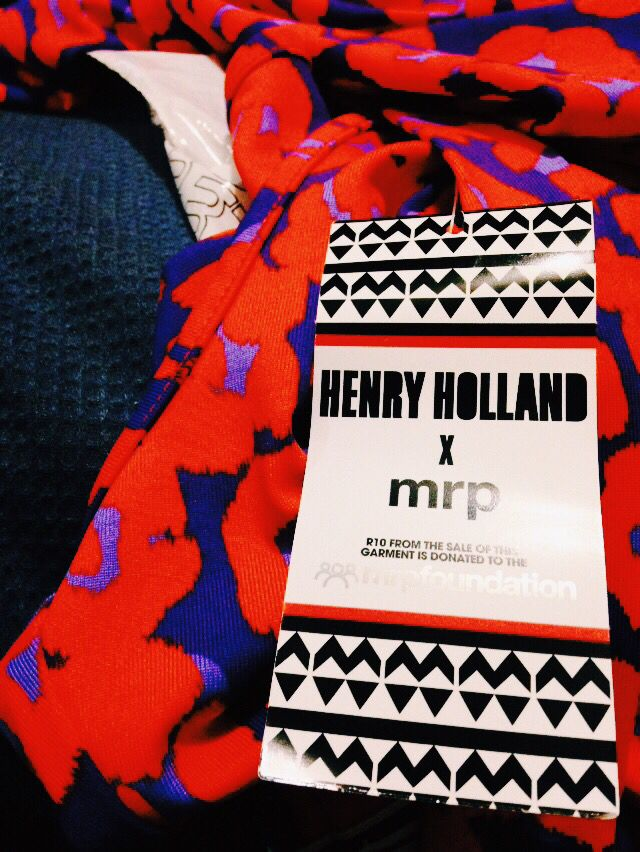 Like most of my peers here in South Africa, I am a huge MRP supporter. I especially love when they introduce to fresh, new designers and their collections. Henry Holland was one of my favourites for sure.