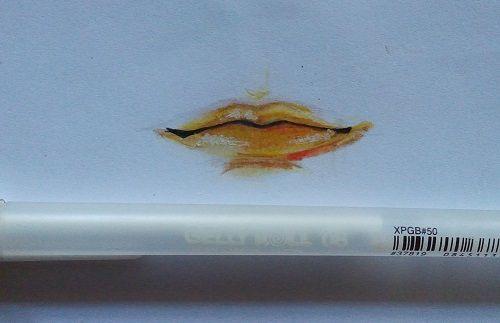 Mewarnai bibir manga dengan pensil warna   MAYAGAMI