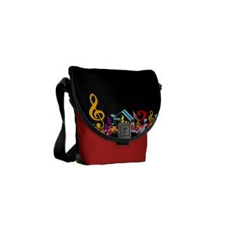 Colorful Musical Notes Messenger Bags