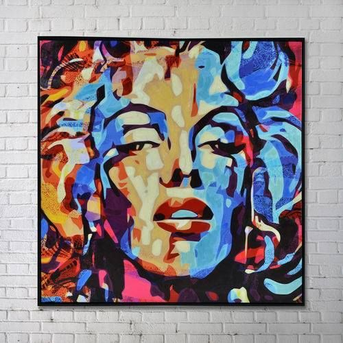 Marilyn Monroe Painting - By Abstract Imports - Wall art with bright colours!