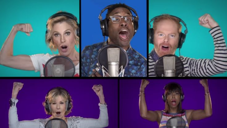 Inspired by the 'Pitch Perfect' movies, Banks, producer Bruce Cohen and video creator Mike Tompkins corralled their celebrity pals to sing the Clinton campaign's unofficial anthem.