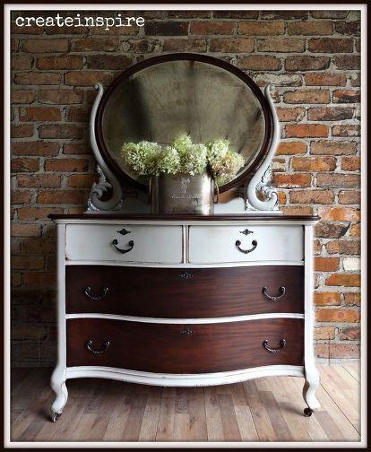 antique cherry dresser, painted furniture