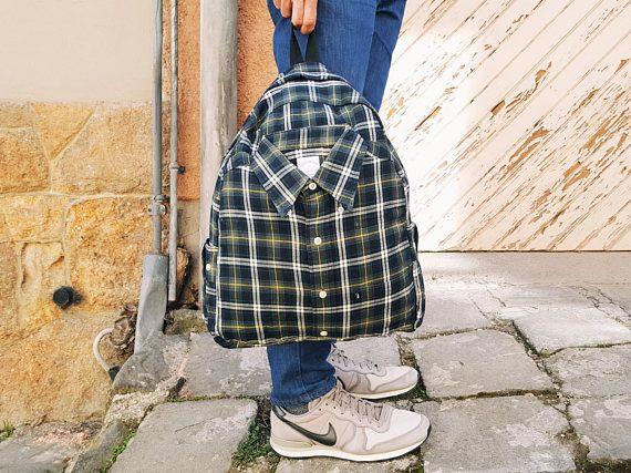 Mens backpack satchel backpack green shirt school backpack