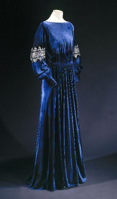 Dress Jeanne Lanvin, 1936 Musée Galliera de la Mode de la Ville...