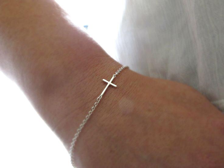 silver sideways cross bracelet, silver cross bracelet, sideways cross bracelet, silver cross bracelet, sideway cross bracelet