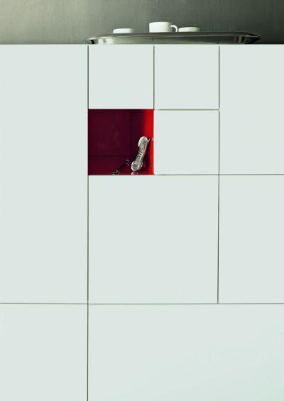 Aparador alto / moderno / de madera lacada / de metal CONCHIGLIA by Studio charlie LEMA Home