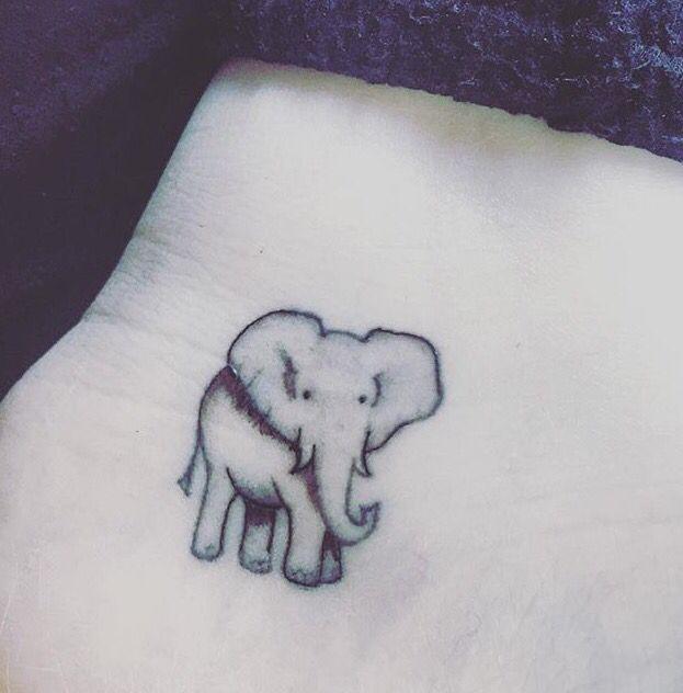 Cute little elephant tattoo