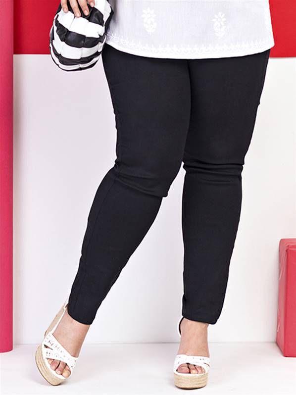 Pantalon pitillo carisal en tallas grandes plus size