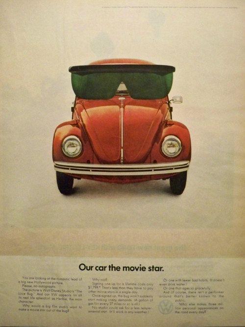 Sixties VW Beetle print advert #beetle #sixties #vw #vwbeetle #vdub #dubs #dub #volkswagen #vintage #retro #classic #advertising #lifestyle
