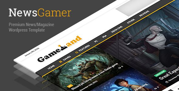 NewsGamer is a professional responsive #wordpresstheme suitable for gaming magazines, newspaper publishers, magazine or advanced blogs. This theme is a great choice to create a Beautiful & Powerful website!