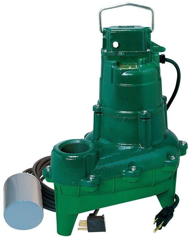 Zoeller 264-0005 Sewage Ejector Pump, 4/10 Hp, 115 Volt
