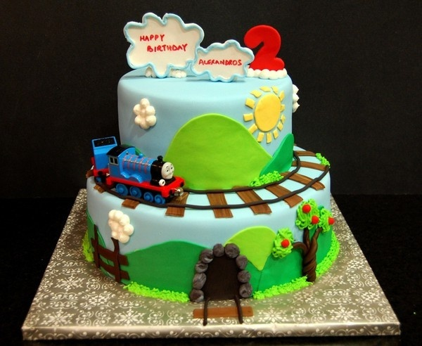 Thomas the train birthday cake
