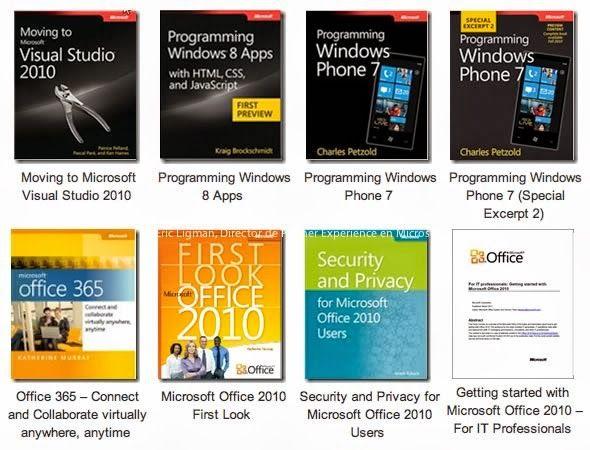 Gran colección de Libros Gratis por parte de Microsoft