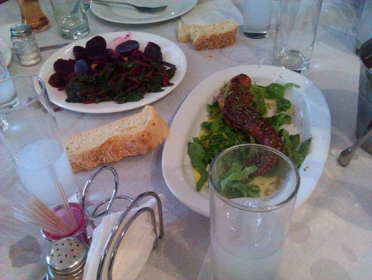 #greek #ouzo and fresh octοpus @plazhotel