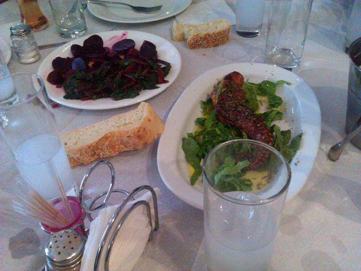 #greek #ouzo and fresh octοpus @plazhotel