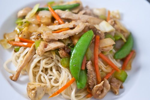 "chop suey - Google Search  (HY)This is a Chinese-American dish that was made by Chinese immigrants as an easy quick meal. Americans cosidered this a ""national dish od china"" when it has not been made in China."