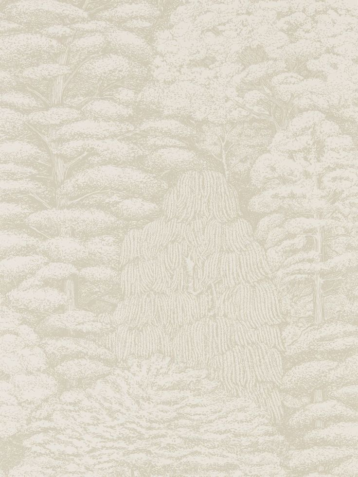 Woodland Toile Ivory And Neutral Wallpaper By Sanderson
