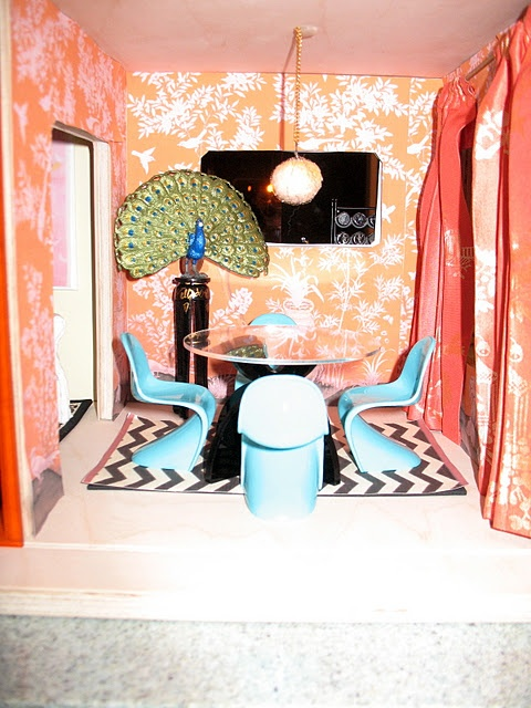 My Orange and Turquoise Dining Room