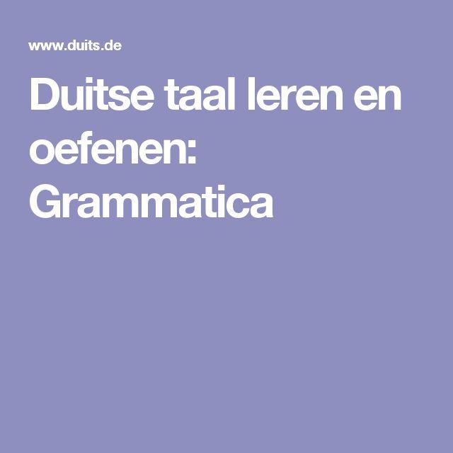 Duitse taal leren en oefenen: Grammatica