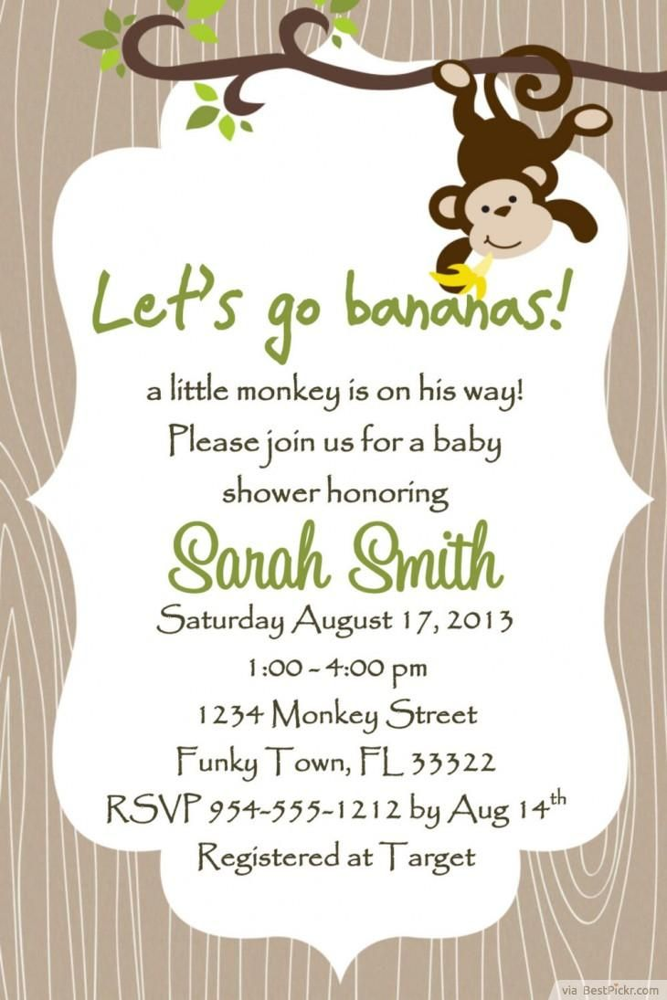 Create Own Monkey Baby Shower Invitations Designs astounding appearance