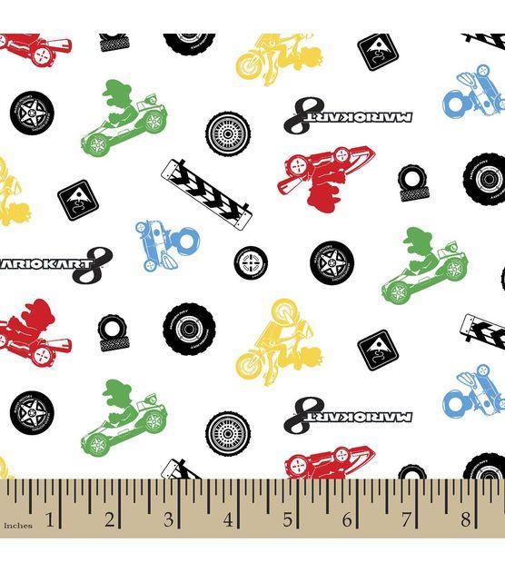 Nintendo Mario Kart Character Toss Flannel Fabric
