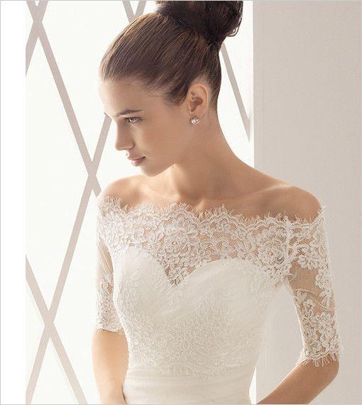 Lace Top off - the shoulder Bridal Bolero Jacket – Second Skin Bodysuit