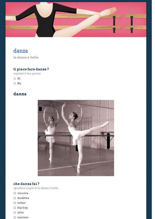 Sondaggio personale sulla danza