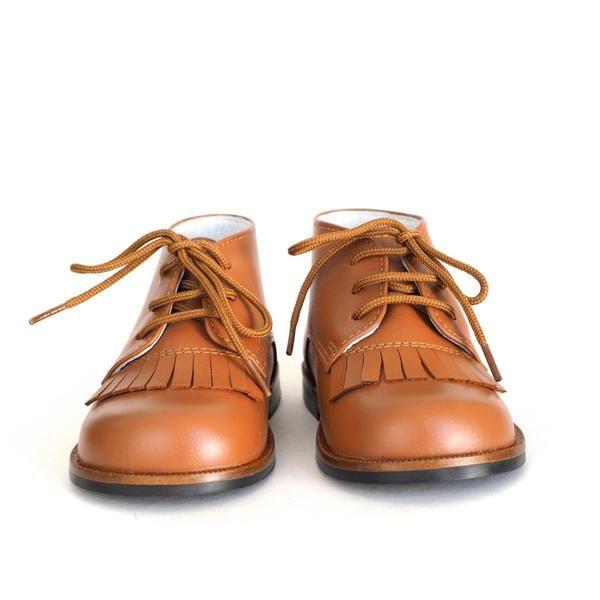 Chupetin varm brun frynsesko – Hola Lola #kidsshoes #fringes