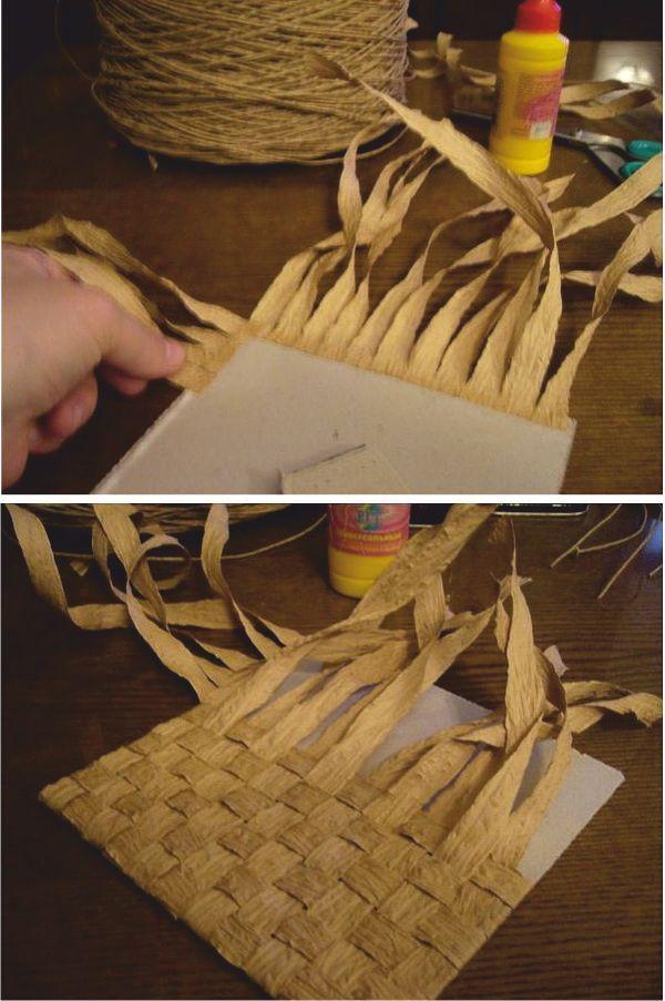Панно из бумажной веревки своими руками