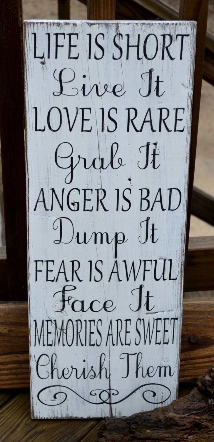 Inspirational Quote, Home Decor, Hand Painted Wood Sign