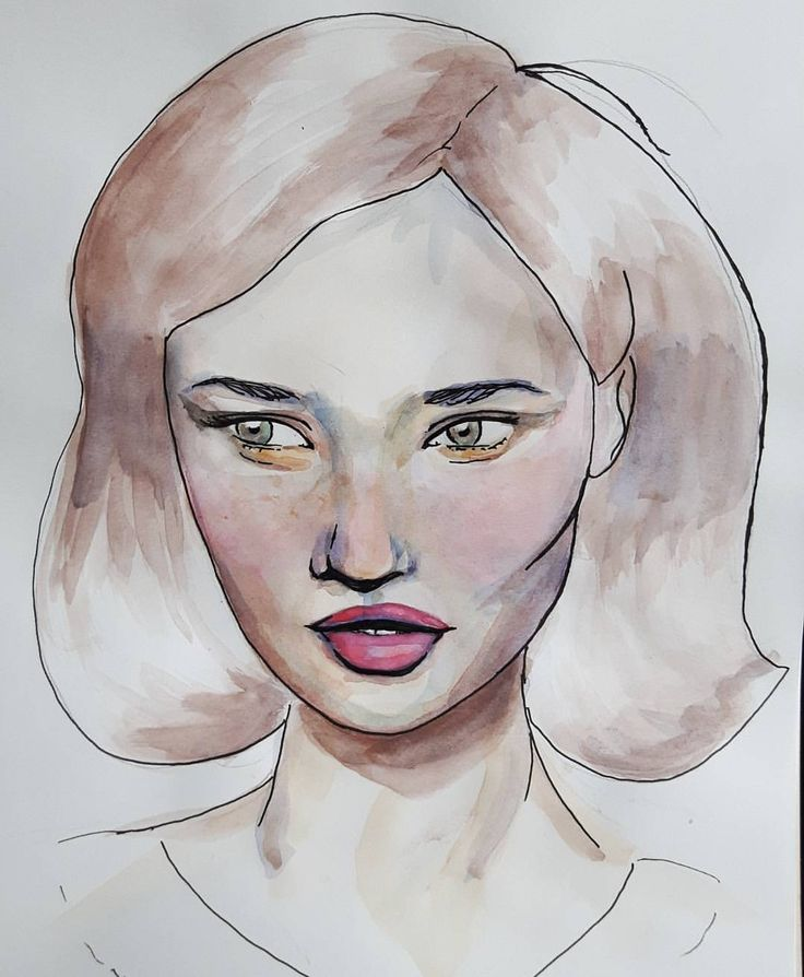 #watercolor and #pen
