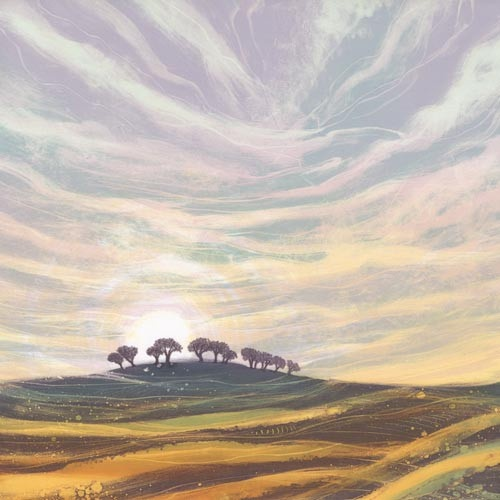 Sunrise Landscape by Rebecca Vincent