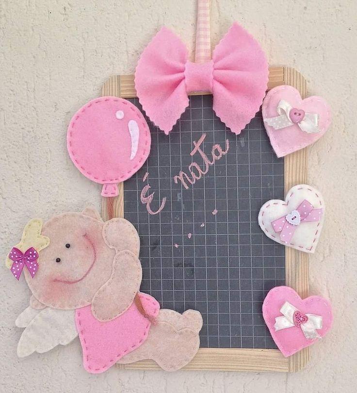 Targa annuncio di nascita su lavagna di ardesia, per bambina, by FANTASY WORK, 24,90 € su misshobby.com