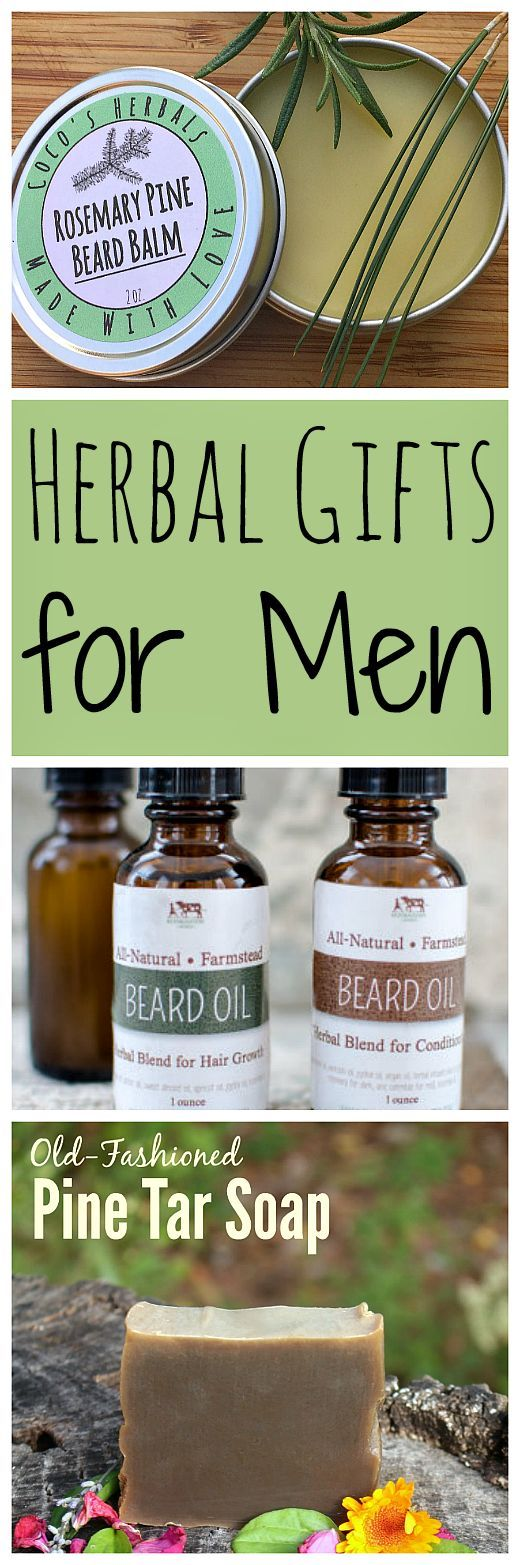 Here are some great homemade herbal gifts for men!