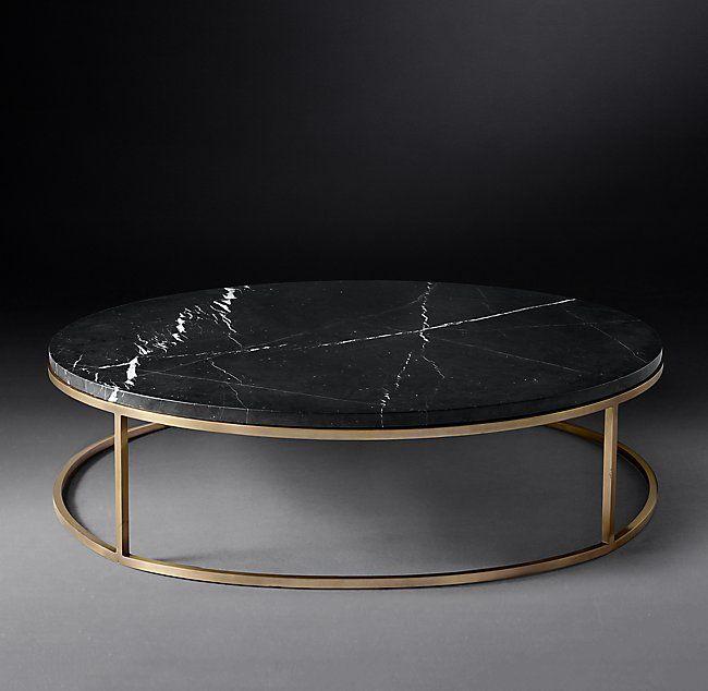 RH Modern's Nicholas Marble Round Coffee Table…