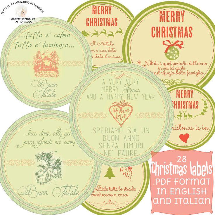 28 Printable Christmas tag http://graficscribbles.blogspot.it/2015/11/printable-christmas-tag-label-etichette-addobbi-Natale.html